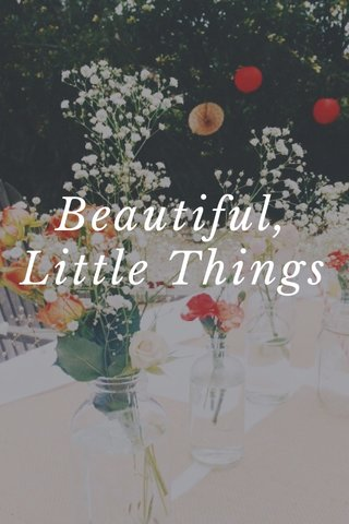 Beautiful, Little Things