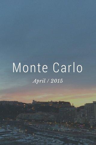 Monte Carlo April / 2015
