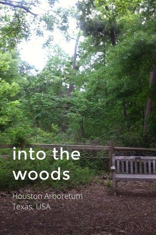 into the woods Houston Arboretum Texas, USA