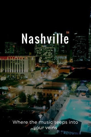 Nashville Where the music seeps into your veins