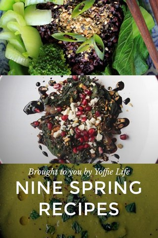 NINE SPRING RECIPES Brought to you by Yoffie Life
