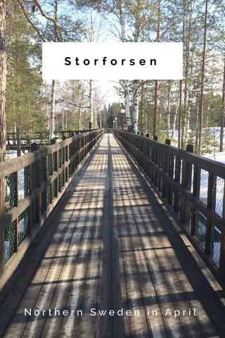 Storforsen Northern Sweden in April