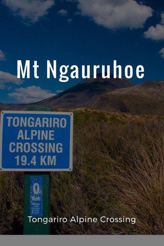 Mt Ngauruhoe Tongariro Alpine Crossing