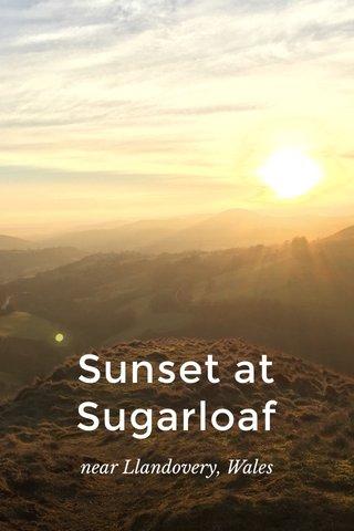 Sunset at Sugarloaf near Llandovery, Wales