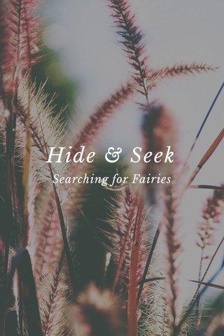 Hide & Seek Searching for Fairies