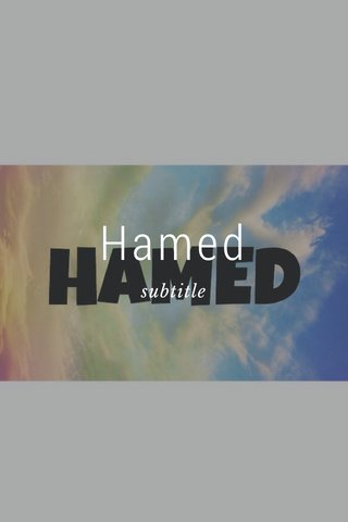 Hamed subtitle