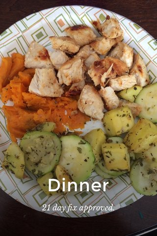 Dinner 21 day fix approved.