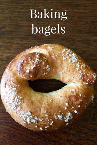 Baking bagels