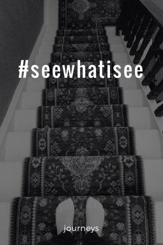 #seewhatisee journeys