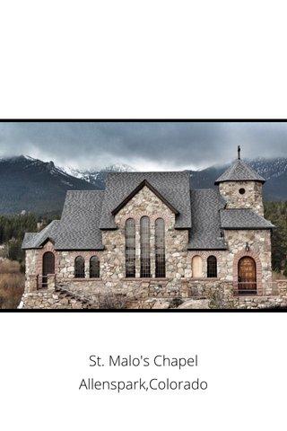 St. Malo's Chapel Allenspark,Colorado