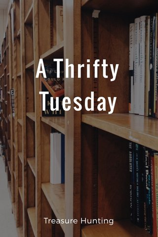 A Thrifty Tuesday Treasure Hunting