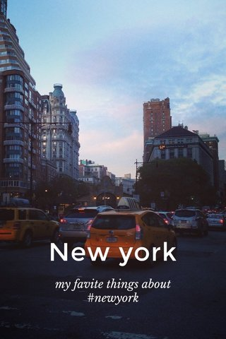 New york my favite things about #newyork