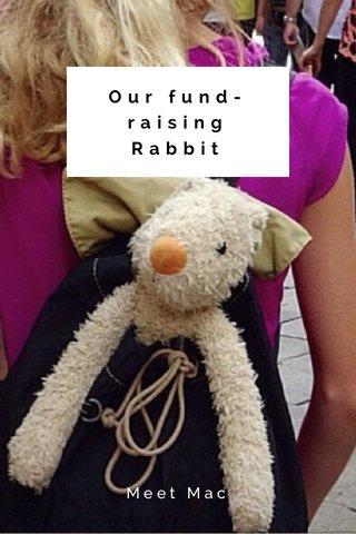 Our fund- raising Rabbit Meet Mac