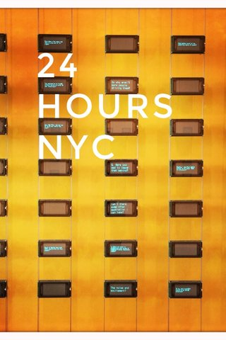24 HOURS NYC