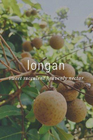 longan sweet succulent heavenly nectar