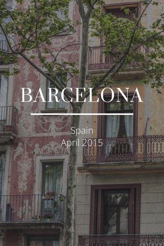BARCELONA Spain April 2015