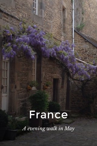 France A evening walk in May