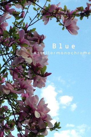Blue #stellermonochrome
