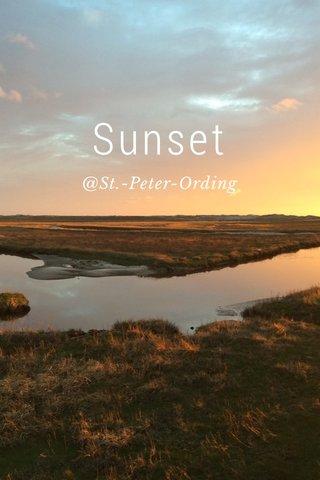 Sunset @St.-Peter-Ording
