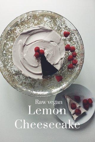 Lemon Cheesecake Raw vegan