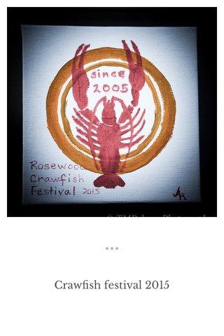 Crawfish festival 2015