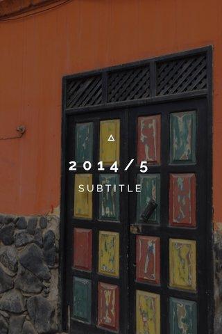 2014/5 SUBTITLE