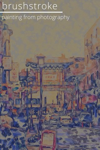 brushstroke painting from photography