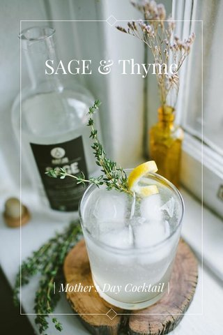 SAGE & Thyme | Mother's Day Cocktail |