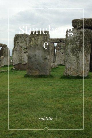 Stonehenge | subtitle |