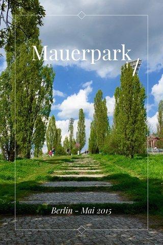 Mauerpark Berlin - Mai 2015
