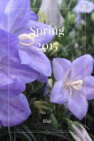 Spring 2015 Blue