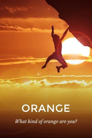 ORANGE What kind of orange are you?