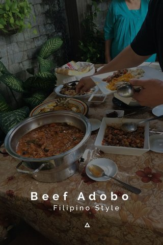 Beef Adobo Filipino Style