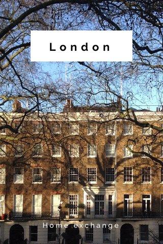 London Home exchange