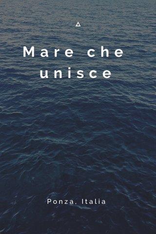 Mare che unisce Ponza, Italia