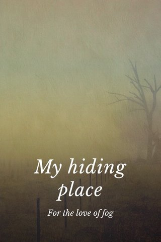 My hiding place For the love of fog