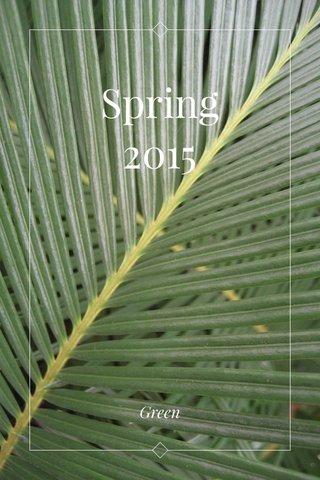 Spring 2015 Green
