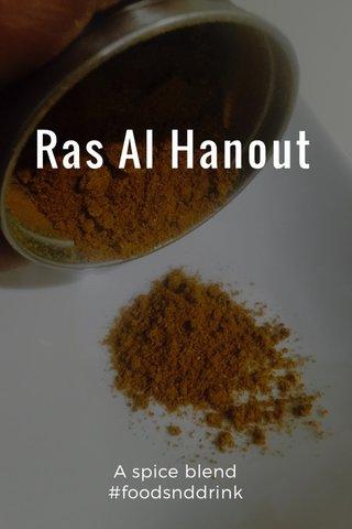 Ras Al Hanout A spice blend #foodsnddrink