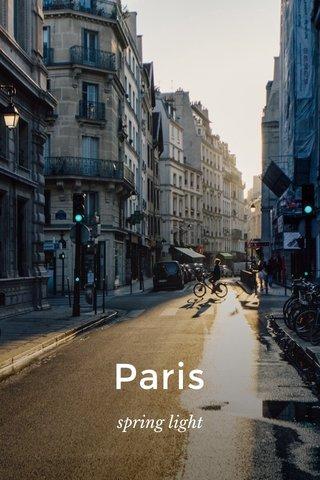 Paris spring light