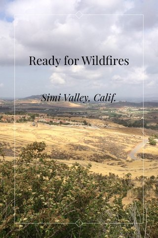 Ready for Wildfires Simi Valley, Calif.