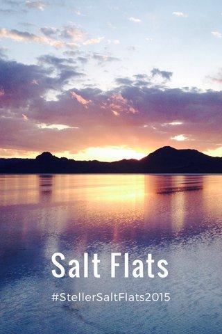 Salt Flats #StellerSaltFlats2015
