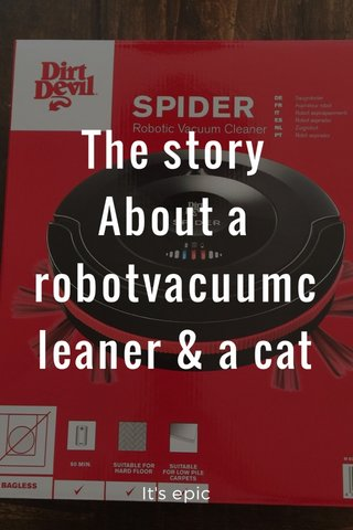 The story About a robotvacuumcleaner & a cat It's epic