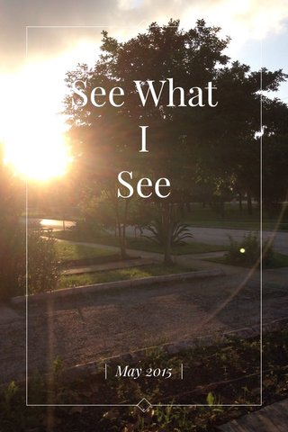 See What I See | May 2015 |