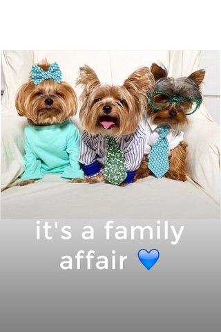 it's a family affair 💙