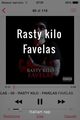 Rasty kilo Favelas Italian rap