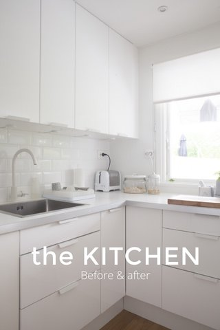 the KITCHEN Before & after