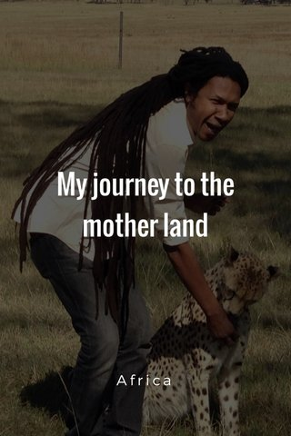 My journey to the mother land Africa