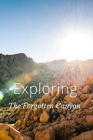 Exploring The Forgotten Canyon