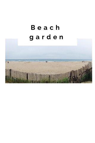 Beach garden SUBTITLE