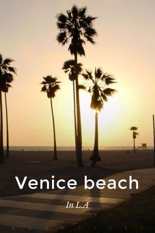 Venice beach In L.A